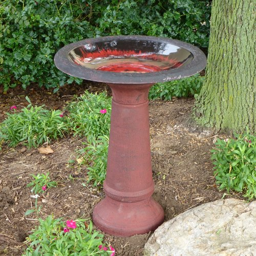 Tierra Garden 25 in. Sand Fiber Clay Birdbath by