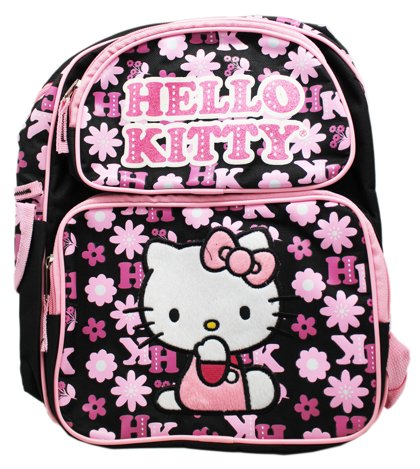 Small Size Black and Pink Face Hello Kitty Backpack