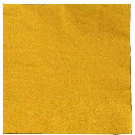 Exquisite Disposable Beverage & Cocktail Napkins - Bulk 100 Count - Yellow - High Quality Paper Napkins for Dinners, Luncheons, Birthday Parties, Weddings, Bridal & Baby Showers Yellow Cocktail Napkins