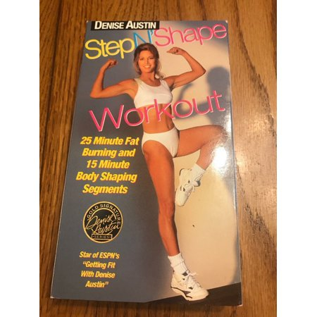 Vintage Denise Austin : Step N' Shape Workout VHS Video Ships N - Shapes Vhs