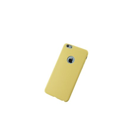 Ultra Thin Solid Matte Candy Color Silicon TPU Soft Phone Case for iPhone 6/6S - Yellow - image 1 de 1