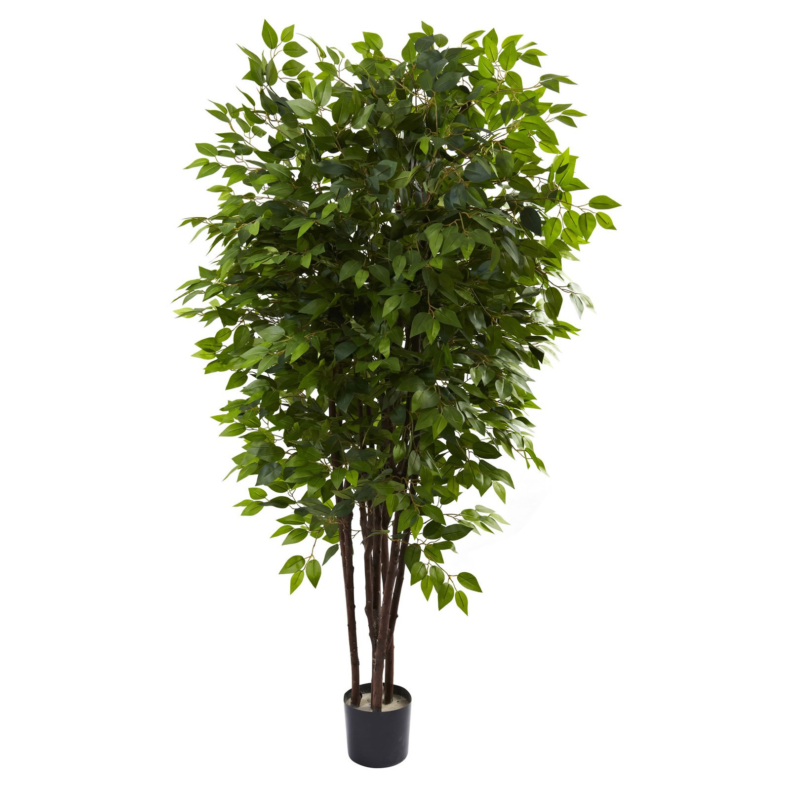 Nearly Natural 6-1/2' Deluxe Ficus Tree