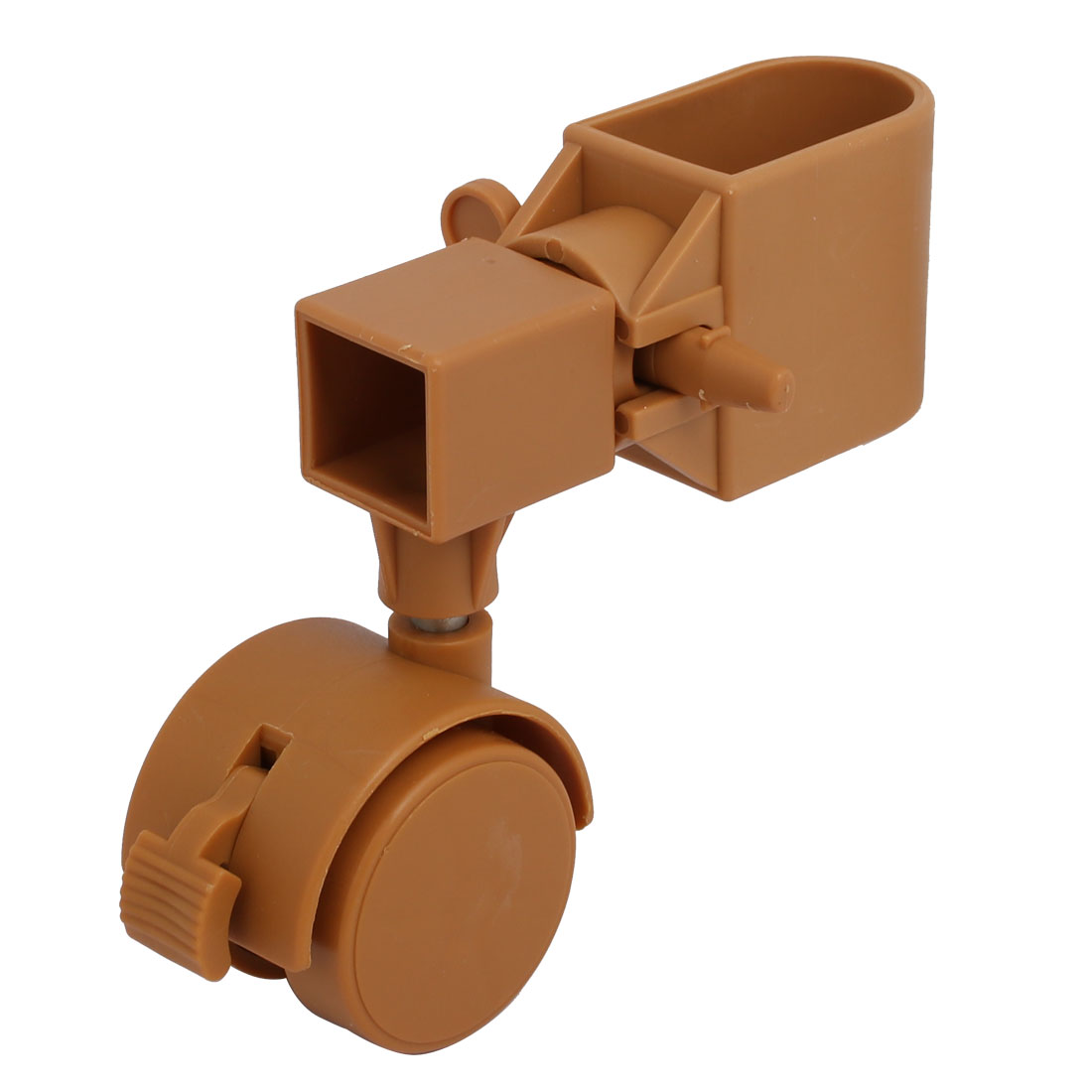 2pcs 1.5-inch Dia Plastic Swivel Caster Wheel  Fittings w Brake - image 1 of 4