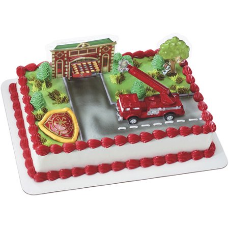 Fire Truck / Station Deco Set - Fire Truck Cake