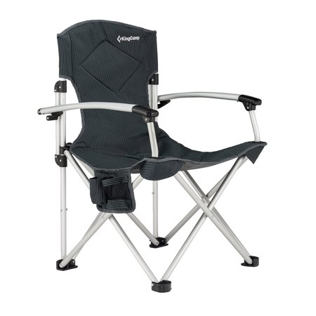Kingcamp Aluminum Portable Heavy Duty Folding Camping Chair With Comfortable Smooth