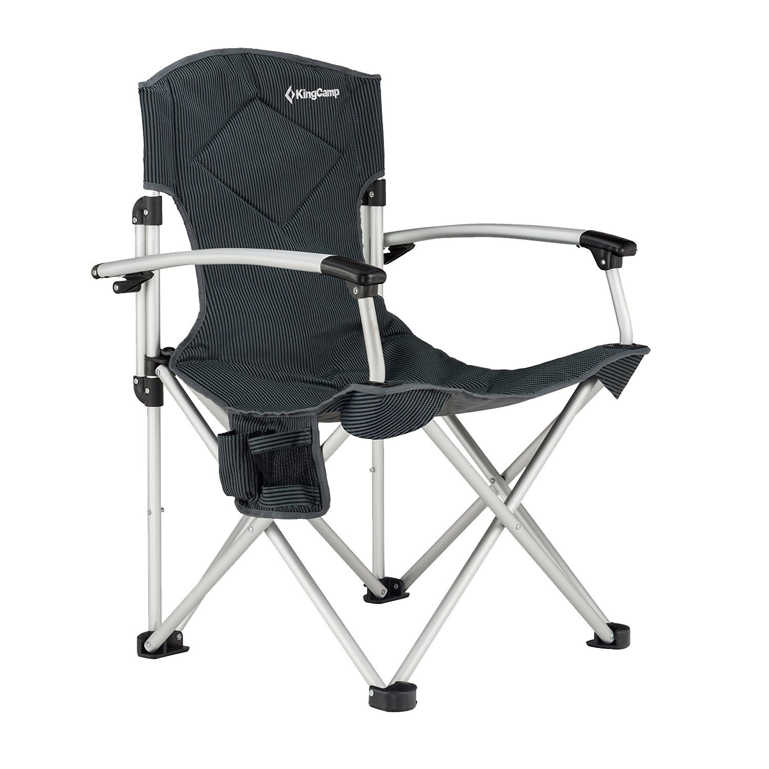 KingCamp Aluminum Portable Heavy Duty Folding Camping Chair With Comfortable Smooth armrest with Carry Bag