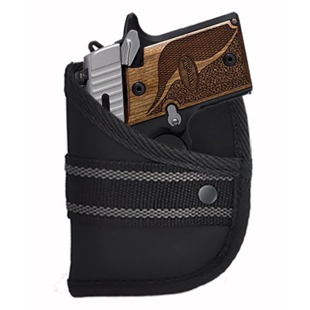 Sig Sauer P938 9mm With or Without Laser / Comfort Designed Custom Fit Woven Poly Pocket Holster By Garrison Grip