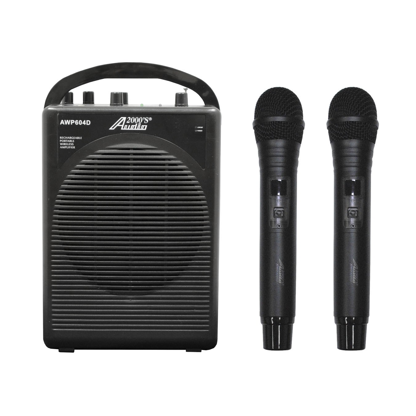 Audio2000 AWP604D 25W Dual Channel Combo Wireless Microphone Battery Powered PA System... by
