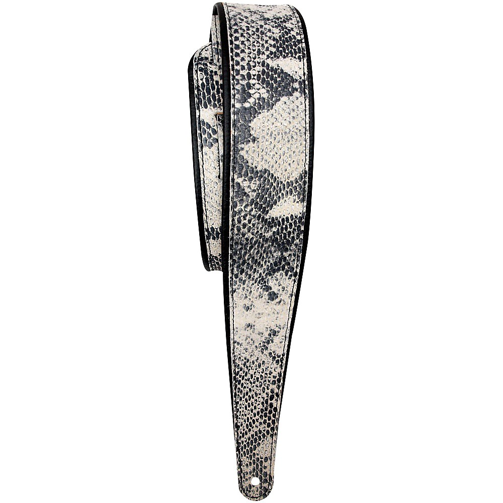 LM Products Snake Embossed Cowhide Guitar Strap with Rolled Edges by LM Products