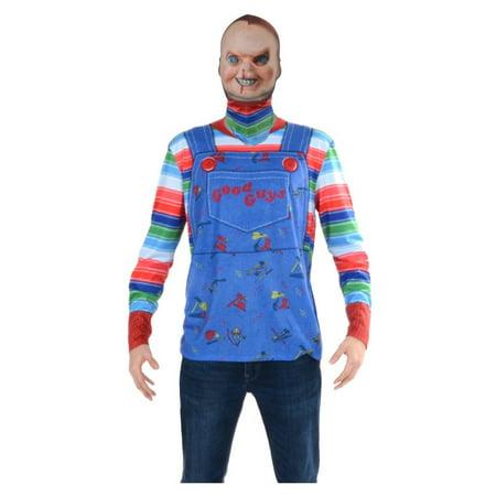 Chucky Halloween Pics (Halloween Chucky Mask and Tee Adult)