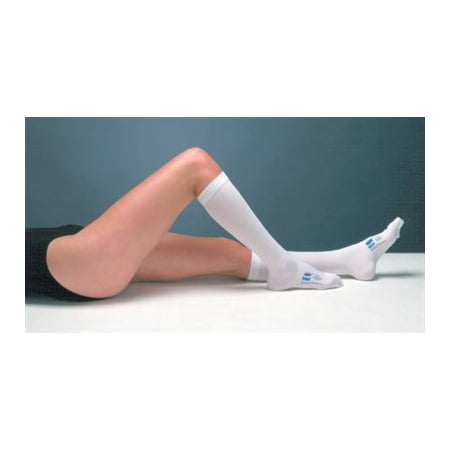 TED Anti Embolism Stockings, Knee-High Hose, Medium, Regular, White Inspection Toe, 7115