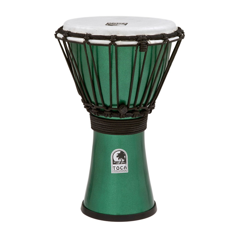 Toca Freestyle ColorSound Djembe Metallic Green 7 in. by Toca