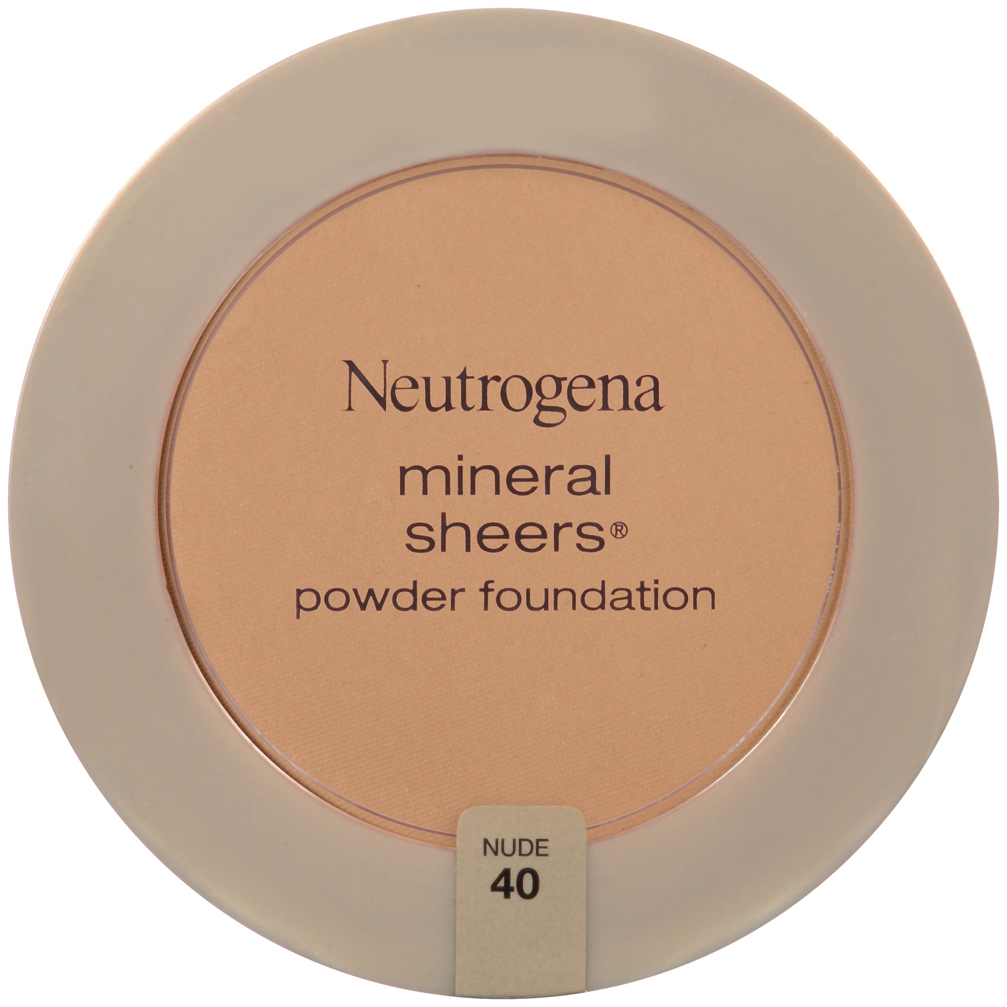 Neutrogena Mineral Sheers Compact Powder Foundation SPF 20, Nude 40, .34 Oz