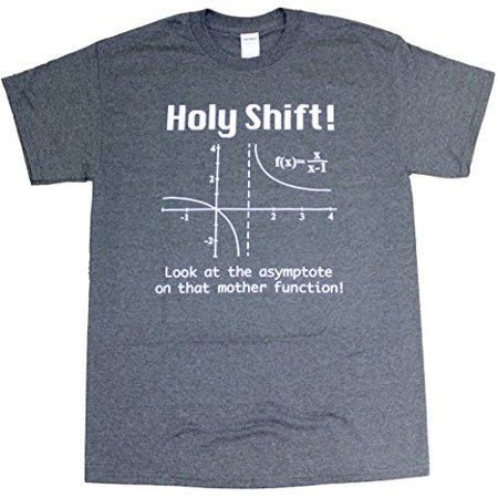 (Holy Shift Math Geometry Physics Adult Mens Unisex Funny T-Shirt Heather Black (Small))