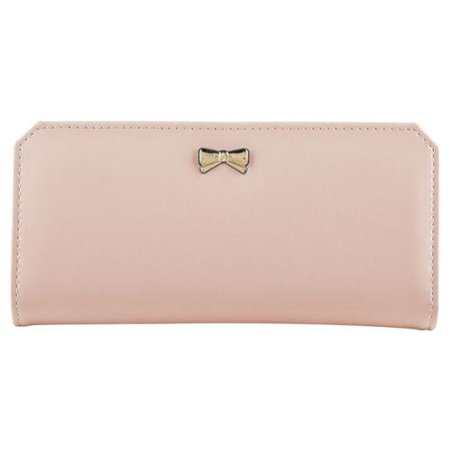 sacs hermes paris - Zodaca Light Pink Women Fashion PU Leather Wallet Button Bowknot ...