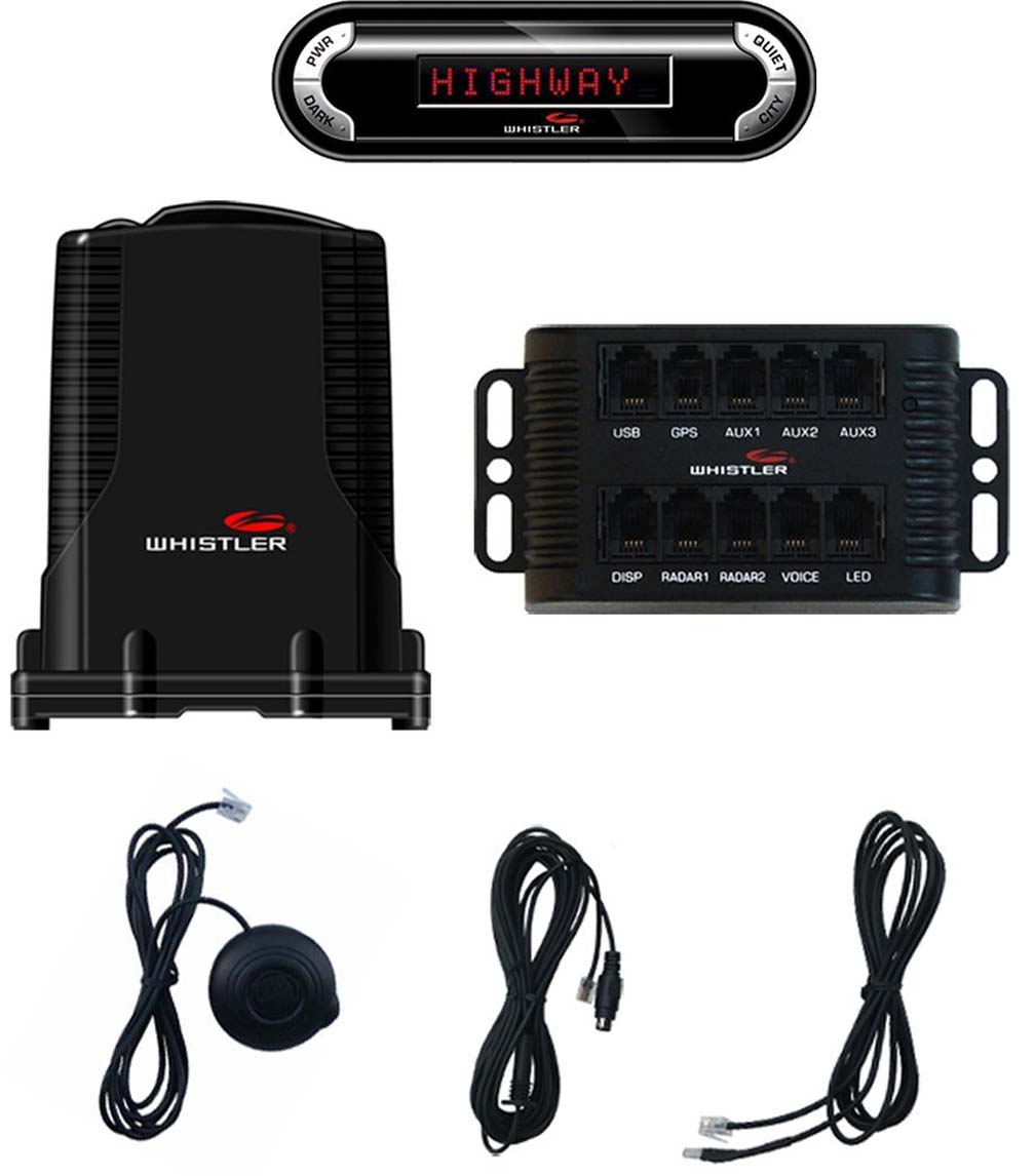 Whistler Pro 3600 Remote Laser-Radar Detector for Discreet Install by Whistler