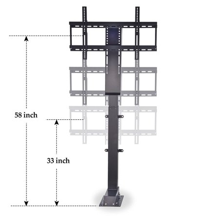 Heavy Duty Motorized TV Lift Stand with Remote Control for Big Panel TVs 30