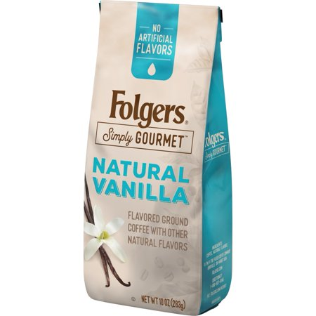 Folgers Simply Gourmet, Natural Vanilla Flavored Ground Coffee, 10oz