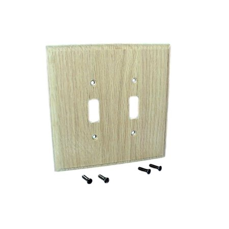 Leviton Unfinished Wood 2-Gang Switch Cover Wall Plate Switchplate 89209-UNF