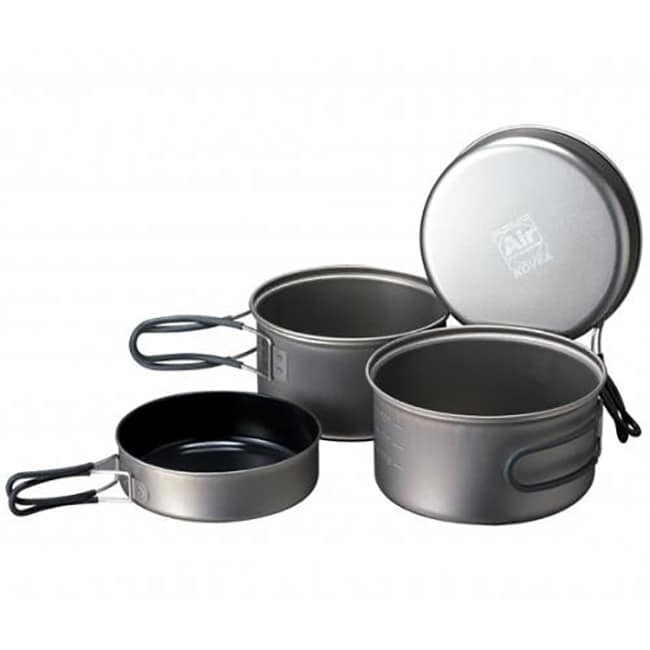 Kovea Solo Lite Kit - Anodized Aluminum Pots Set with Stove and