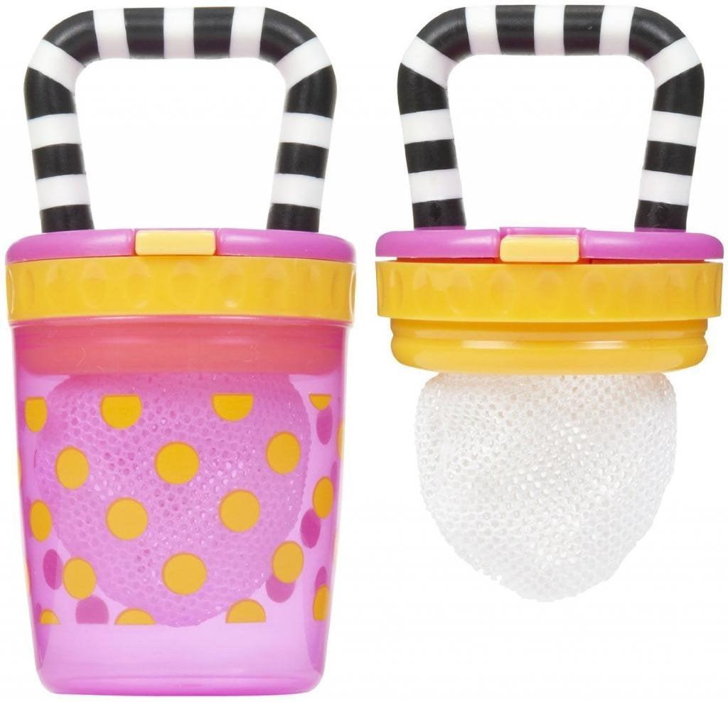 Sassy Teething Feeder 2 Pack - Pink