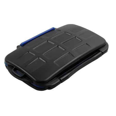 Water Resistance 12 Slots Memory Card Case Holder Black for SD CF TF MSPD Cards - image 1 of 4