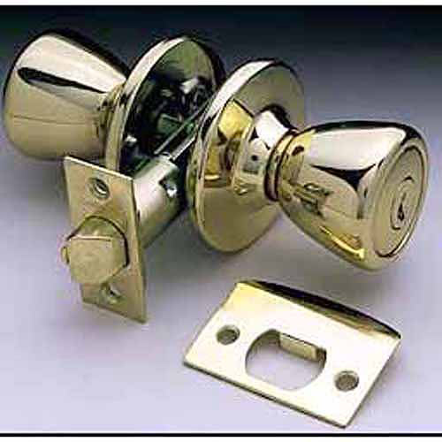 Ultra 44044 Antique Brass The Rittenhouse Bed and Bath Lockset