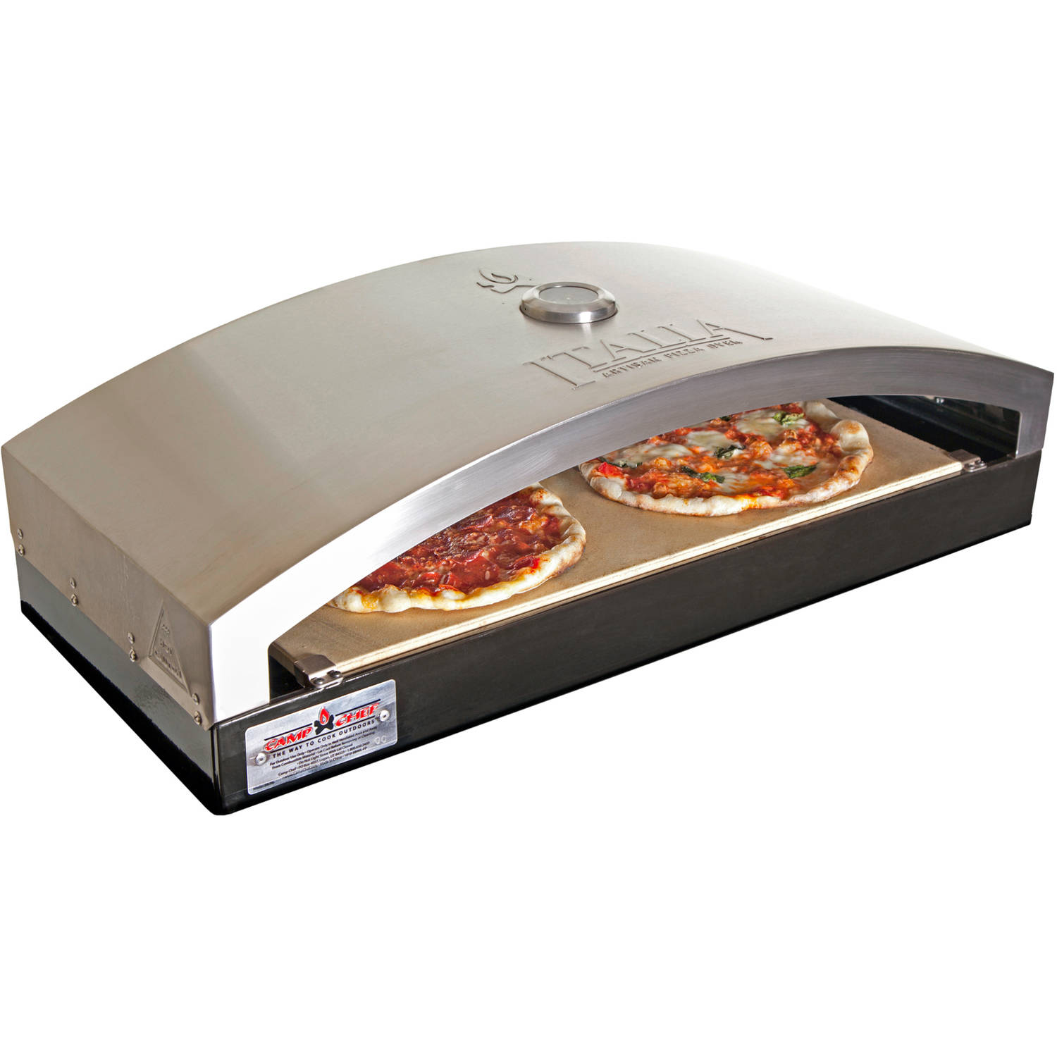 "Camp Chef 14"" Domed Pizza Oven System with Built-in Temperature Gauge"
