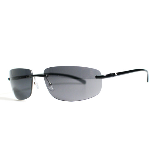 Fatheadz Goo XL Sunglasses, Black Metal