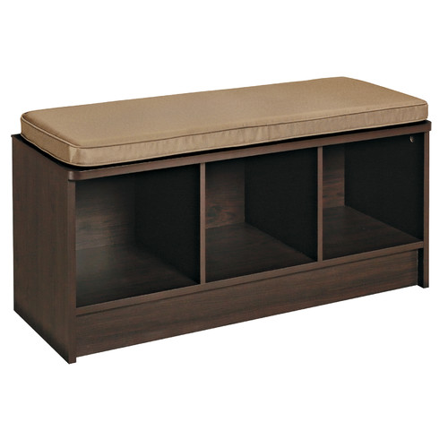 ClosetMaid 3-Cube Bench, Espresso