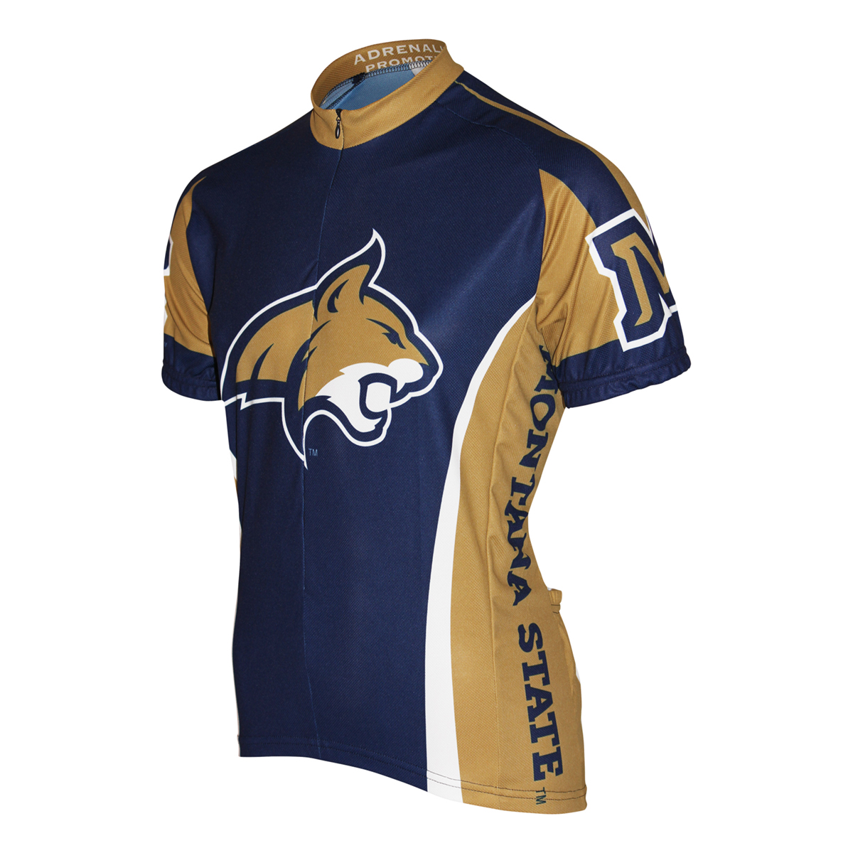 Adrenaline Promotions Montana State University Bobcat Cycling Jersey (Montana State University - XXL)