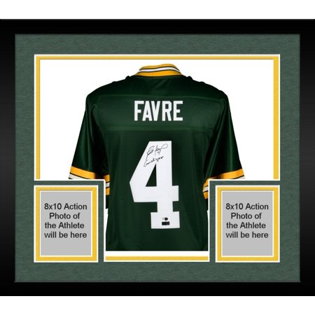 low priced 974fc 3166f Framed Brett Favre Green Bay Packers Autographed Green Pro-Line Jersey with  Gunslinger Inscription - Fanatics Authentic Certified - Walmart.com