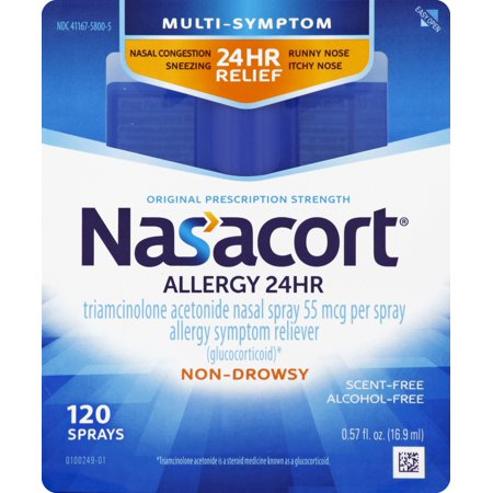 Nasacort Multi-Symptom 24hr Nasal Allergy Relief Spray, -