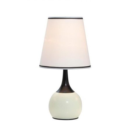 Ok Lighting Ok 815Pl Sp1 23 In  H Contempo Deluxe 3 Way Table Touch Lamp White