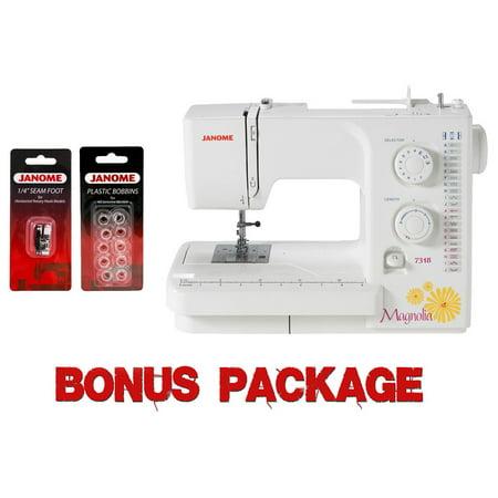 Janome Magnolia 40 Sewing Machine W Bonus Package Walmart Delectable Janome Magnolia 7318 Sewing Machine