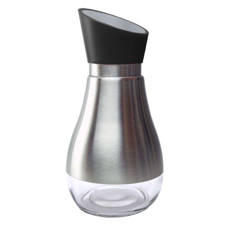 Olive Oil Dispenser Bottle Stainless Steel Shell Glass Bottom Soy