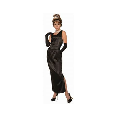 Womens Breakfast At Tiffany'S Gown W/Gloves Costume Halloween Costume Accessory