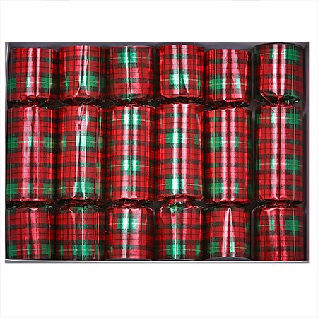 Holiday Plaid Christmas Crackers, 6ct ()