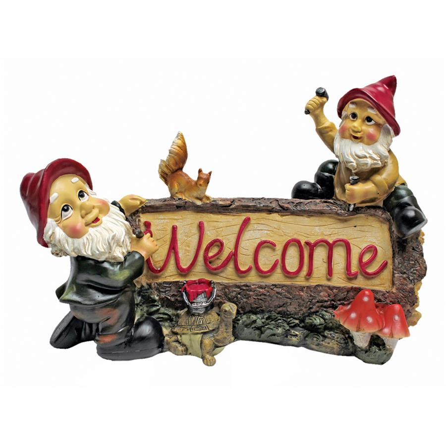 Greetings from the Garden Gnomes Welcome Statue by Design Toscano