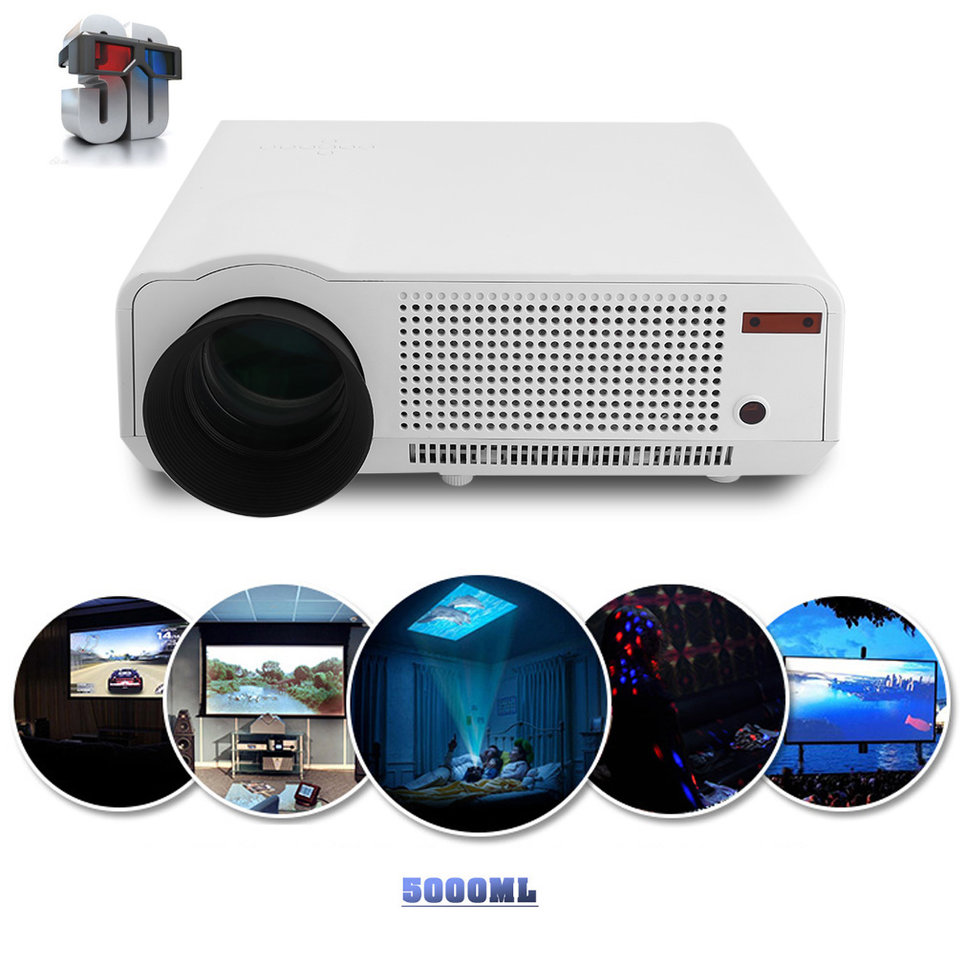 Professional 5000 LM Full HD 1080P LED86 LCD 3D Home Thea...
