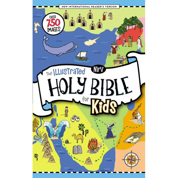 Nirv The Illustrated Holy Bible For Kids Hardcover Full Color Comfort Print Over 750 Images Hardcover Walmart Com Walmart Com