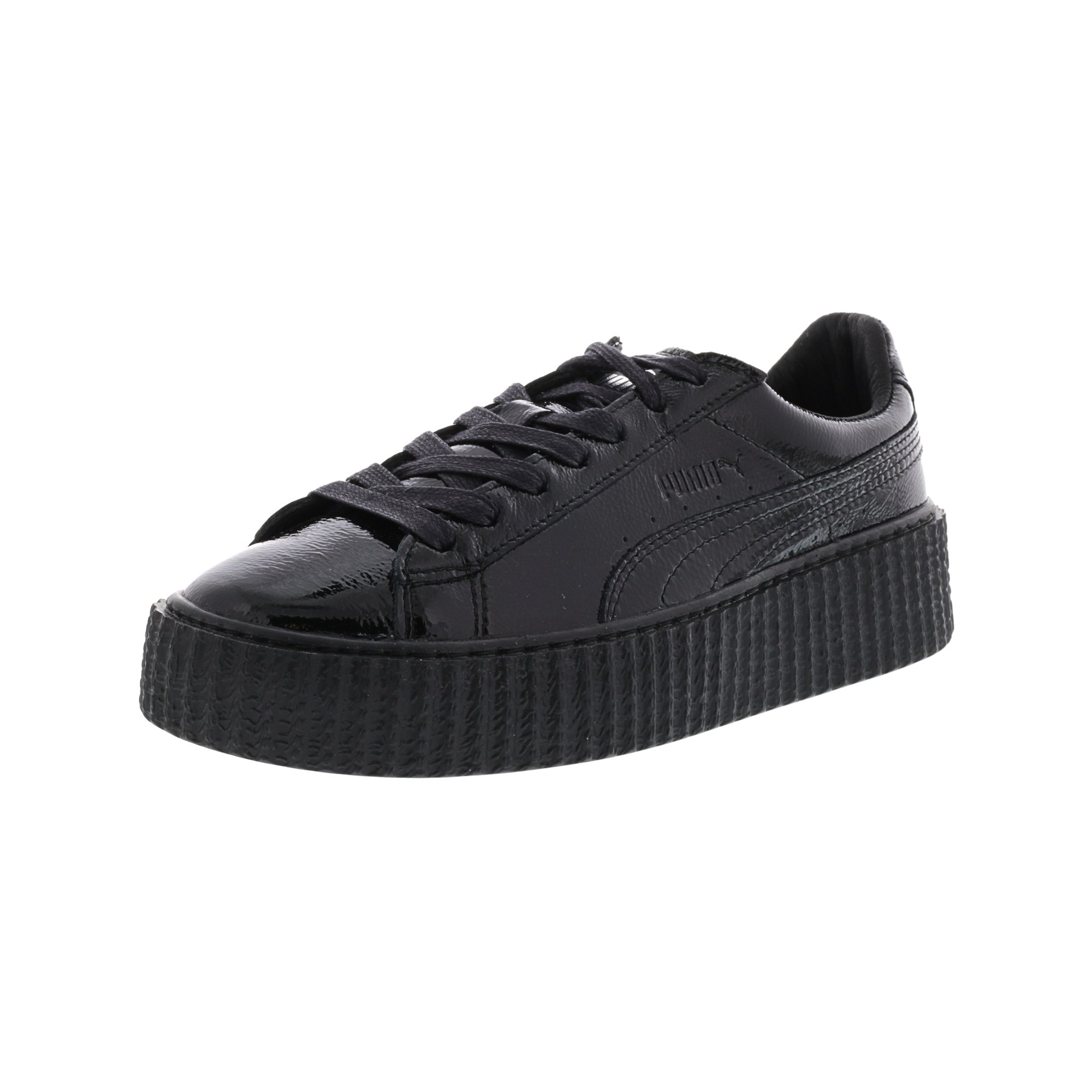 best cheap bcde9 b7dee Puma Women's Creeper Wrinkled Patent Black / Ankle-High Leather Fashion  Sneaker - 6.5M