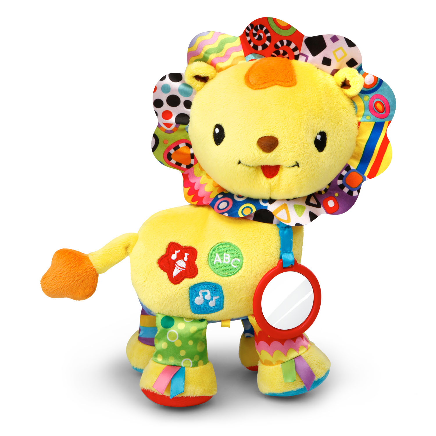 VTech Crinkle & Roar Lion With Crinkly Feet, Ribbon Tags and Mirror