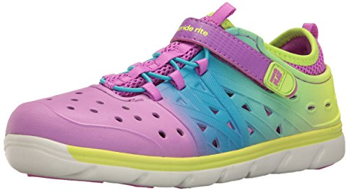 Size 6 Stride Rite Girls/' Made2Play Phibian Magenta Purple Water Shoes Sandals