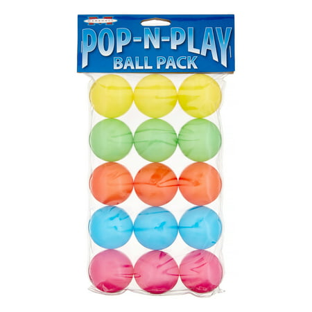 Marshall Pet Products Pop-N-Play Ball Pack Ferret Toys, 15 Ct, Assorted Colors
