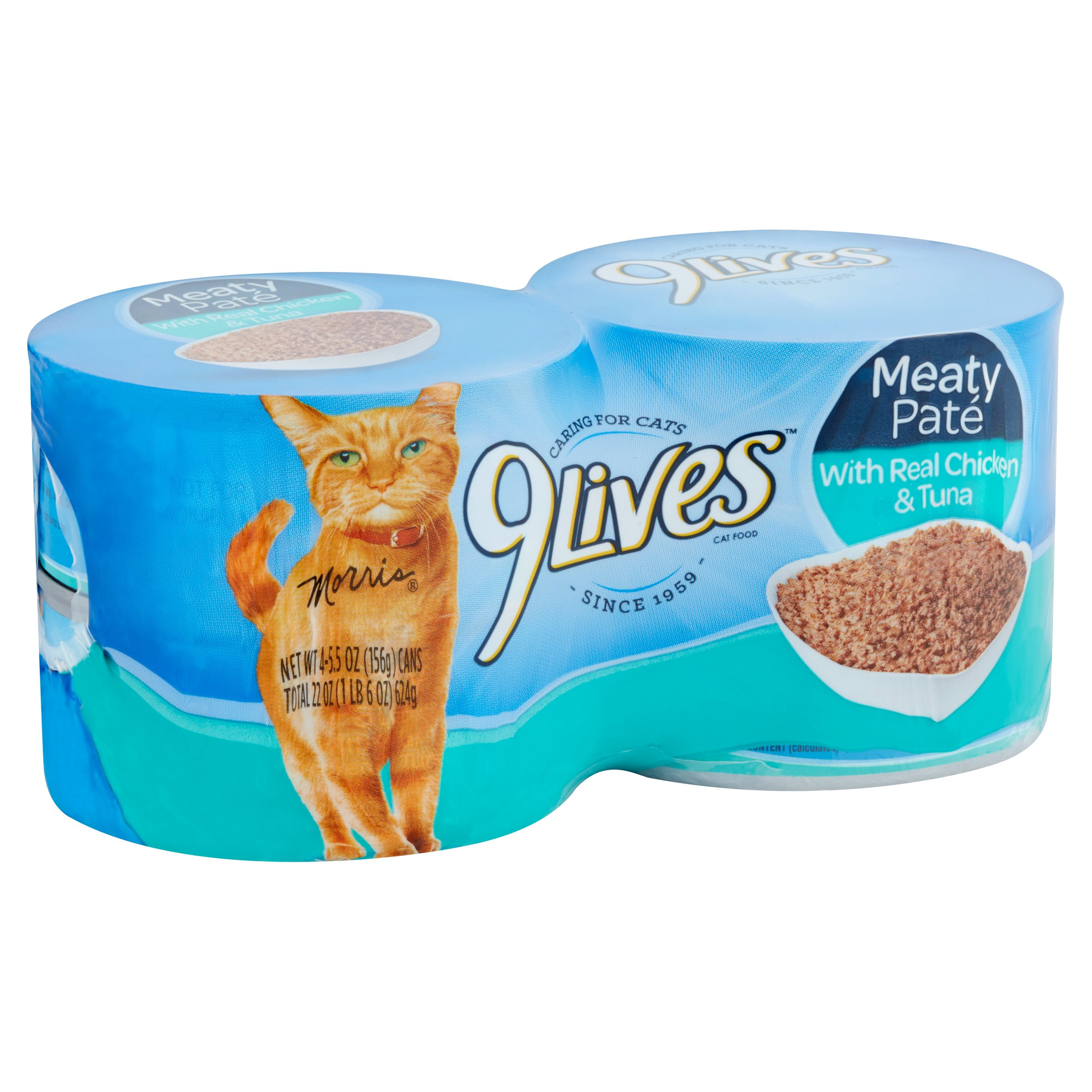 Image of 9Lives Daily Essentials Chicken & Tuna All Stages Wet Cat Food, 5.5 Oz, 4 Ct