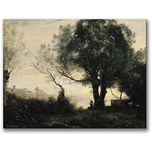 "Trademark Fine Art ""Souvenir Of Castel Gandolfo"" Canvas Wall Art by Jean Baptiste Corot"