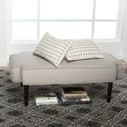 Studio Designs Home Plinth Ottoman, Dark Taupe and Latte