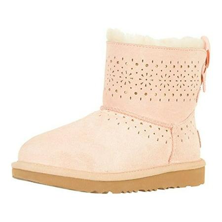 Ugg Sale Girls (Kids Ugg Australia Girls Leather Ankle Pull On, Baby Pink,  Size Big Kid)