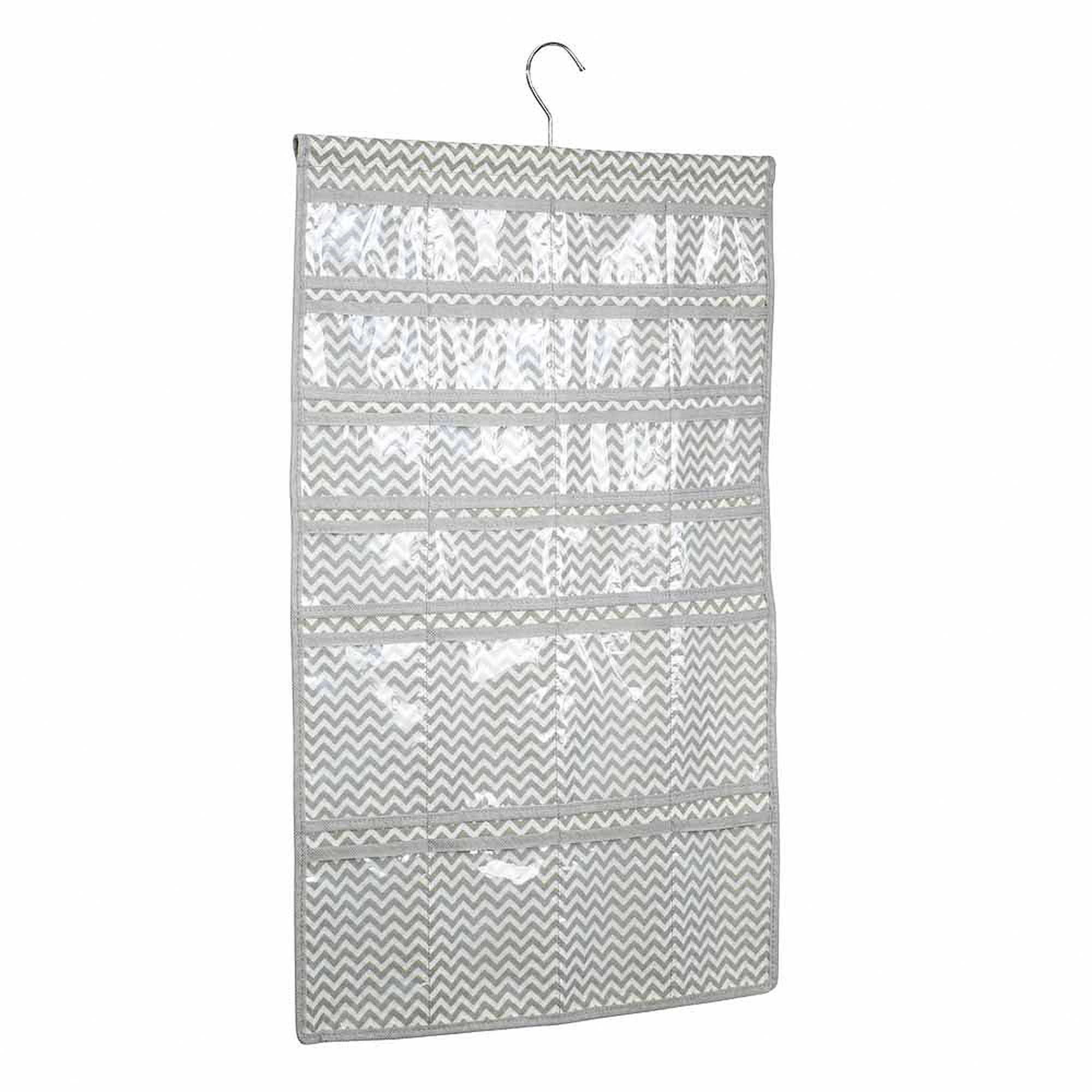 InterDesign Chevron Fabric Hanging Fashion Jewelry Organizer for